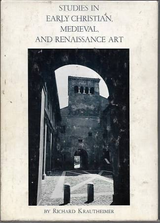 Studies in Early Christian, Medieval, and Renaissance Art
