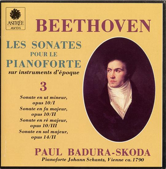 Ludwig van Beethoven: The Sonatas for Fortepiano, Vol. 3 - Op. 10, Nos. 1-3 / Op. 14, No. 2 - Paul Badura-Skoda
